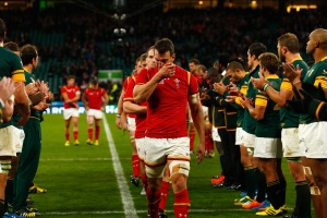 during the 2015 Rugby World Cup Quarter Final match between South Africa and Wales at Twickenham Stadium on October 17, 2015 in London, United Kingdom.